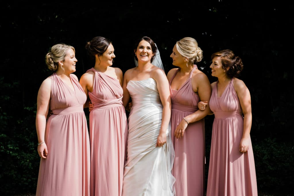 Portrait of bridal party at the Keadeen Hotel