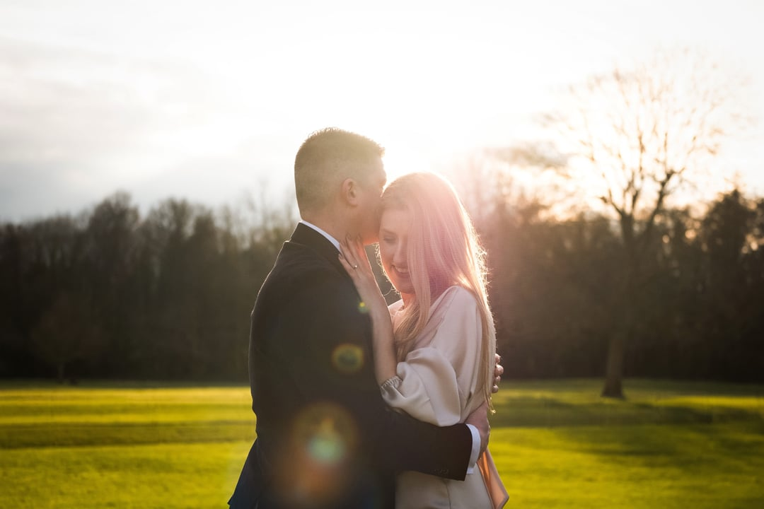 engagement photography, engagement photography at Malahide Castle, Sunset photo at Malahide Castle